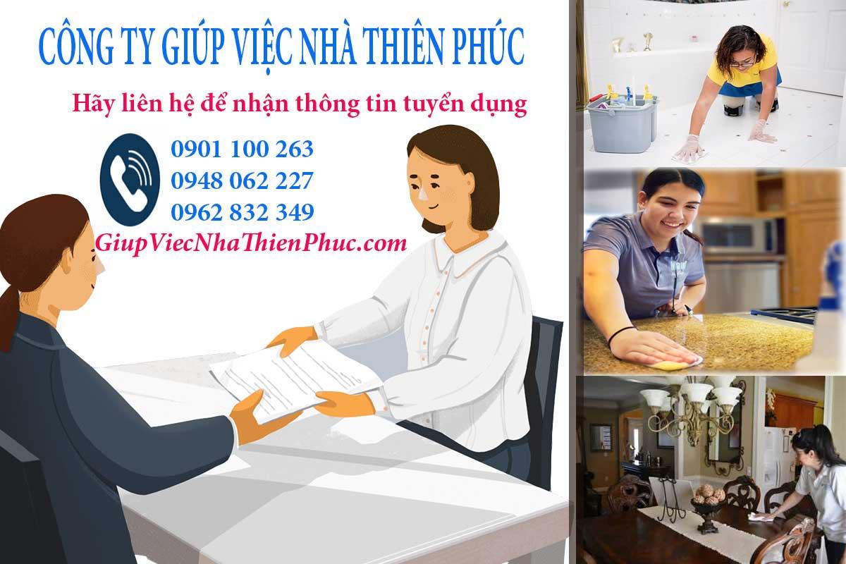 Nơi cho người cần tìm việc làm giúp việc tại HCM ứng tuyển