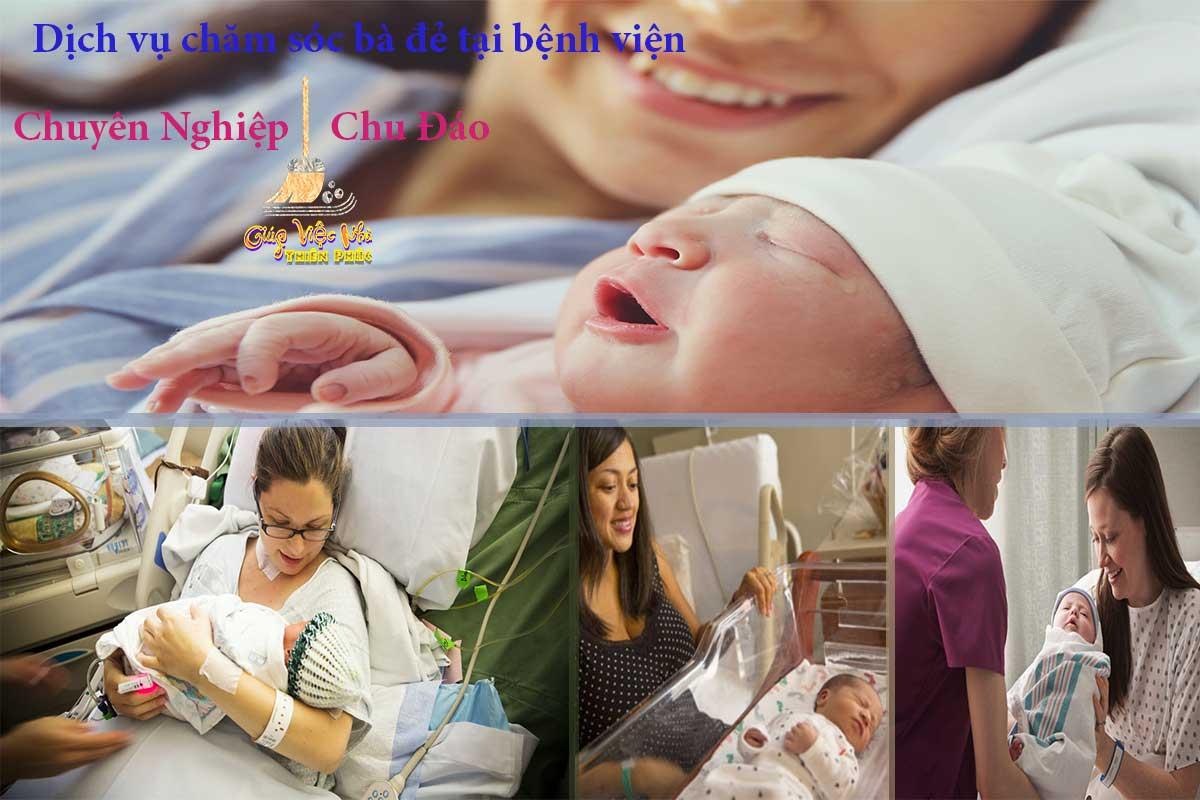 Mẹ sau khi sinh em bé sẽ rất yếu, cần sự chăm sóc đặt biệt