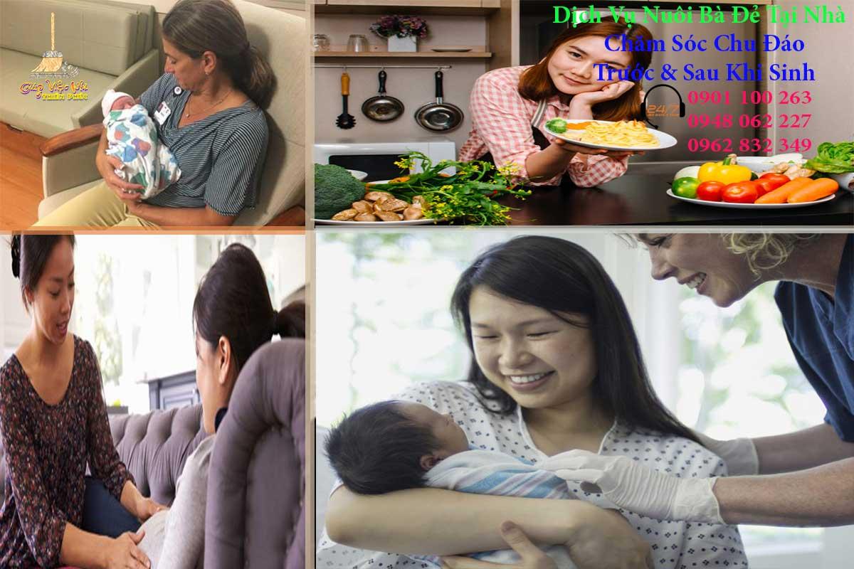Dịch vụ chăm sóc bà đẻ tại nhà trước và sau khi sinh nở