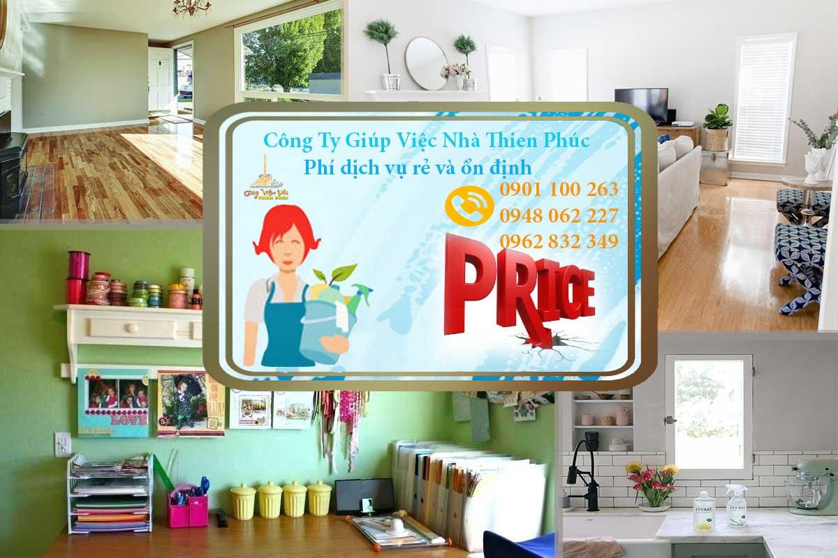 Phí dịch vụ dọn dẹp nhà ở tại Thiên Phúc luôn nằm ở mức cạnh tranh nhất thị trường