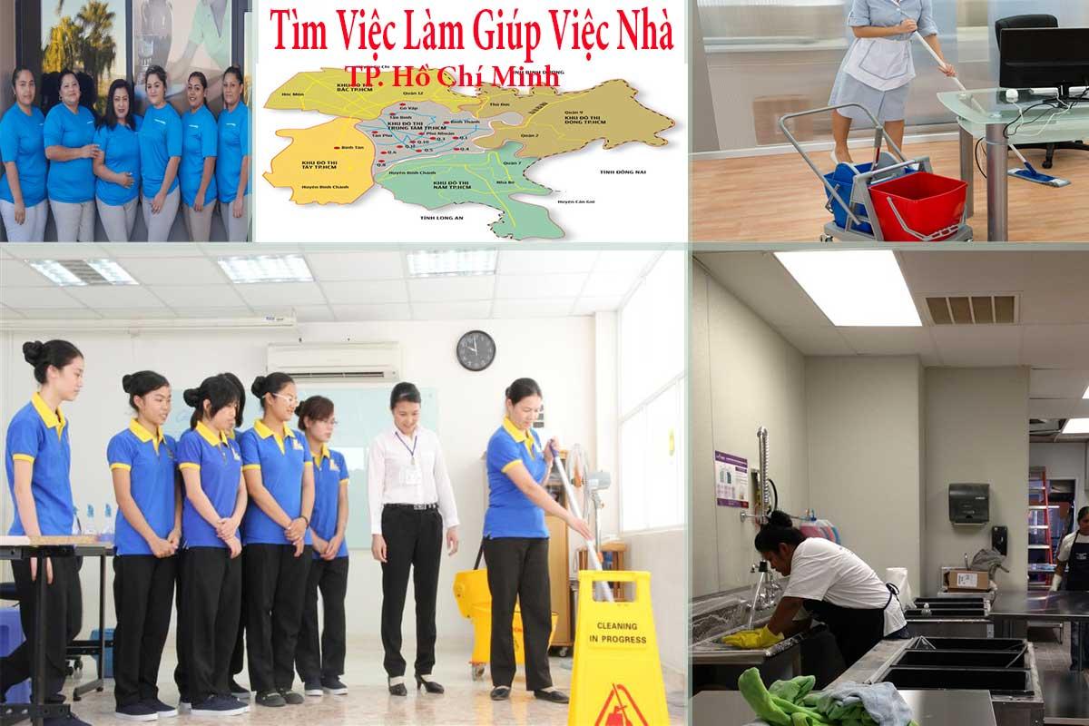 Đội ngũ nhân viên đã tường tìm việc làm giúp việc nhà tại TPHCM