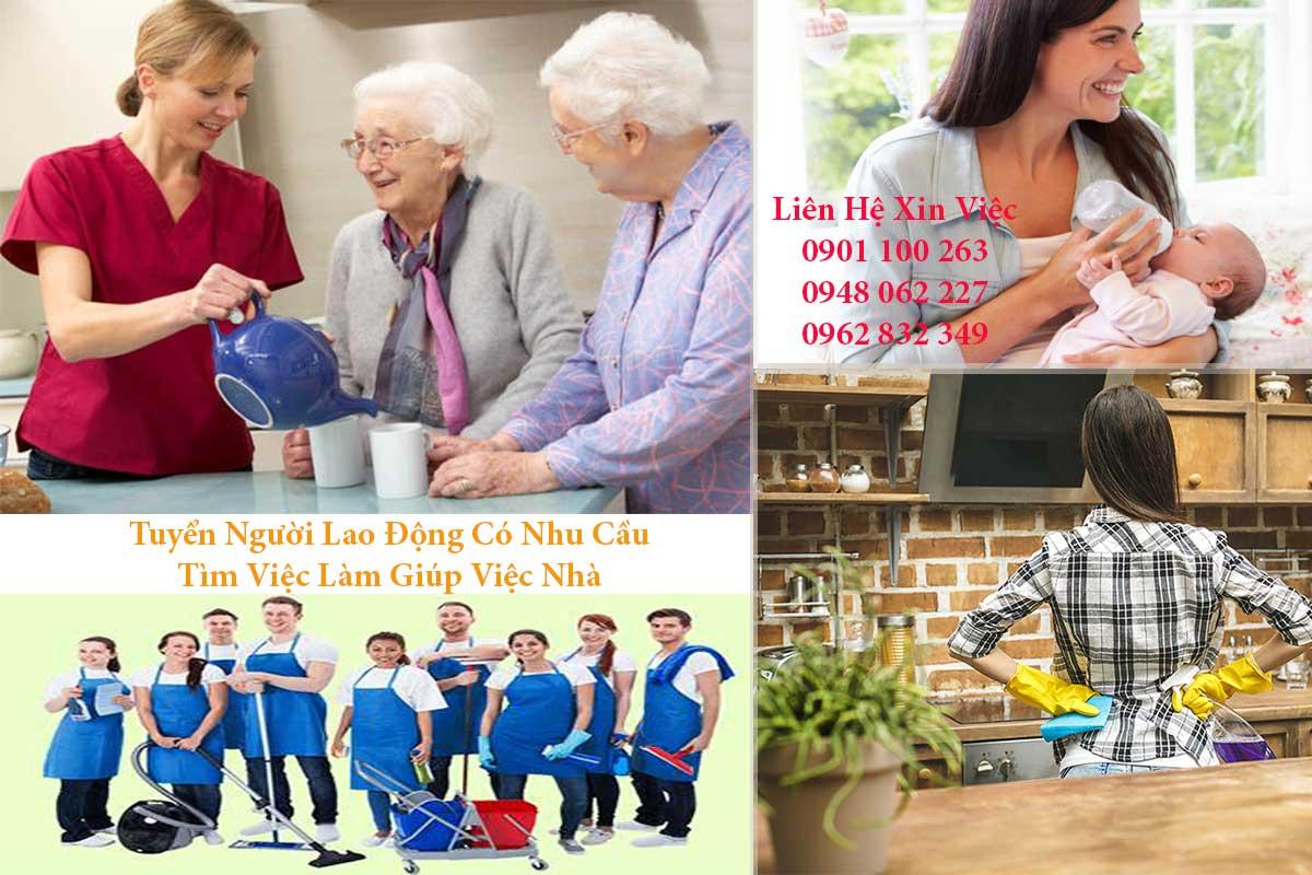 Nghề giúp việc, dọn dẹp, chăm sóc trẻ em, người gia đang chiếm lượt tìm kiếm cao