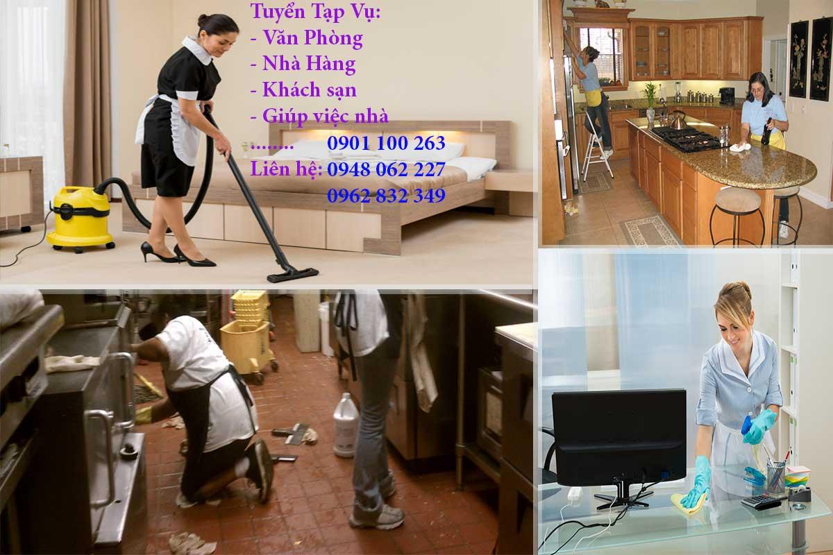 Tuyển người giúp việc trong gia đình, văn phòng, khách sạn,...